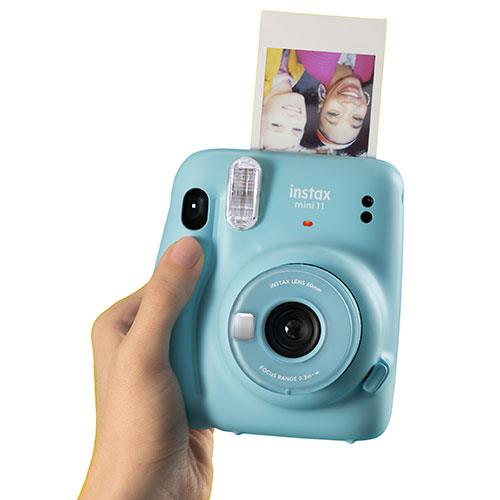 Mini 11 Instant Camera in Sky Blue Product Image (Secondary Image 3)