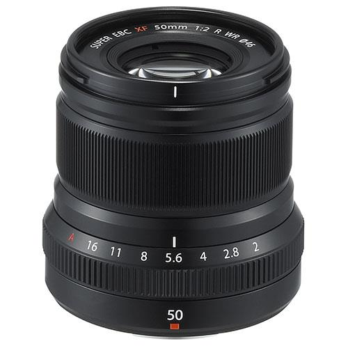 A picture of Fujifilm XF50mm f/2.0 R WR Lens in Black