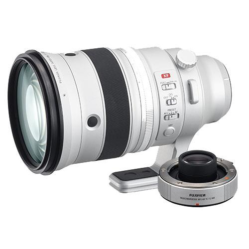 XF200mm f/2 R LM OIS WR Lens and XF1.4X TC f/2 WR Teleconverter Product Image (Primary)