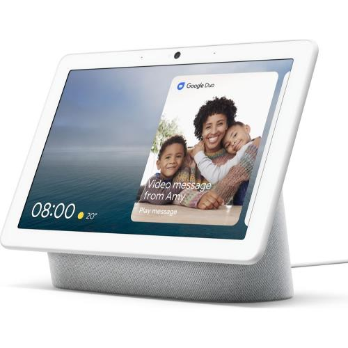 Nest Hub Max in Chalk Product Image (Secondary Image 1)