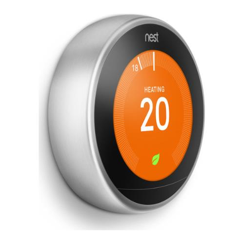 Nest Learning Thermostat in Stainless Steel Product Image (Secondary Image 1)