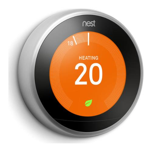 Nest Learning Thermostat in Stainless Steel Product Image (Secondary Image 3)