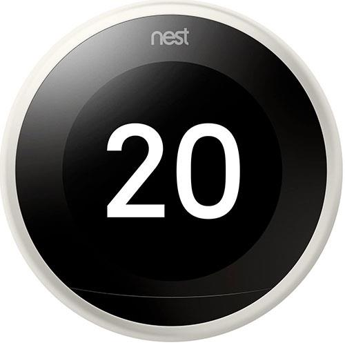 Nest Learning Thermostat in White Product Image (Primary)