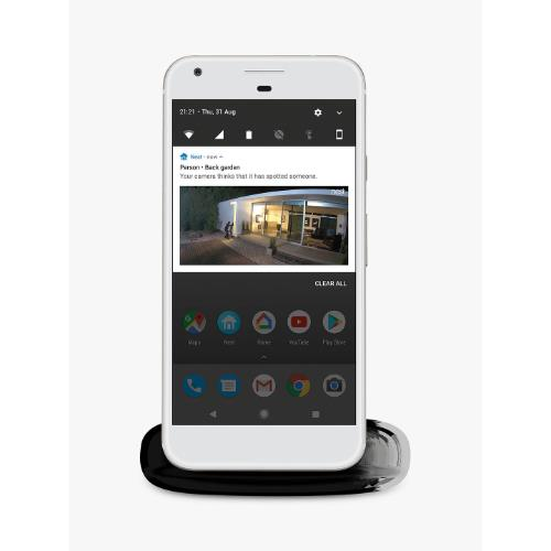 Nest Cam IQ Outdoor Security Camera in White Product Image (Secondary Image 3)