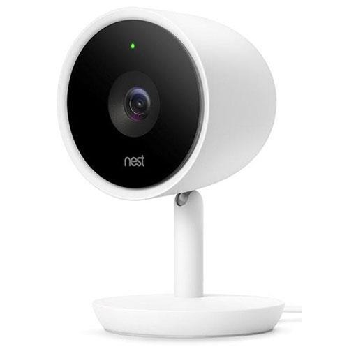 Nest Cam IQ Indoor Security Camera in White Product Image (Primary)
