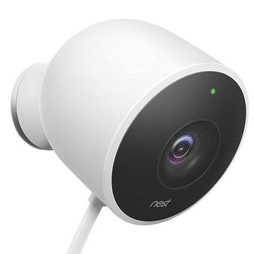 Nest Cam Outdoor Security Camera in White Product Image (Primary)