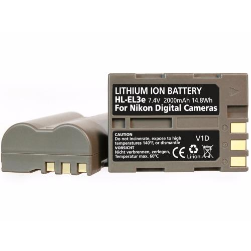 HL-EL3e Battery (replacement for Nikon EN-EL3e)  Product Image (Primary)
