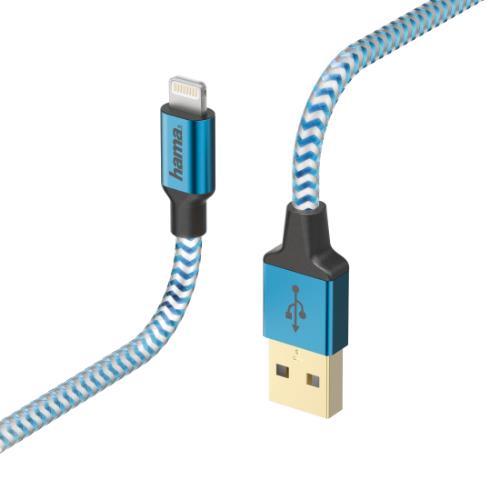 HAMA Refle Lightning 1.5m Blue Product Image (Primary)