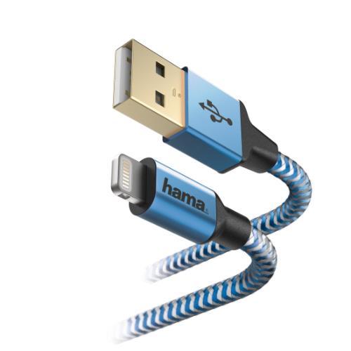 HAMA Refle Lightning 1.5m Blue Product Image (Secondary Image 1)