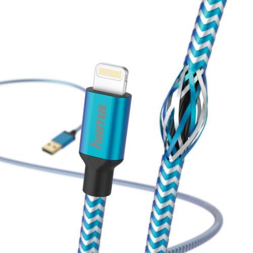 HAMA Refle Lightning 1.5m Blue Product Image (Secondary Image 2)