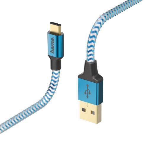 HAMA Refle USB-C 1.5M Blue Product Image (Primary)