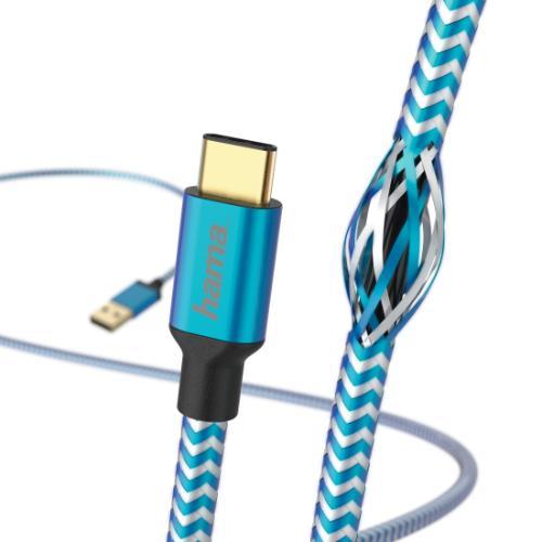 HAMA Refle USB-C 1.5M Blue Product Image (Secondary Image 2)