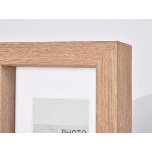 """OAK MDF Block Frame 6 x 4"""" Product Image (Secondary Image 2)"""