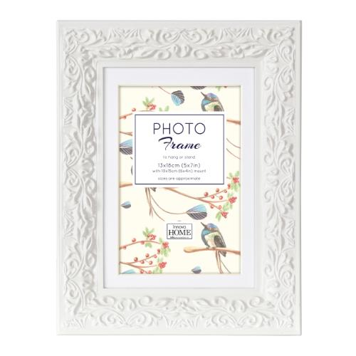"Ariana Wood White Frame 7x5"" Product Image (Primary)"