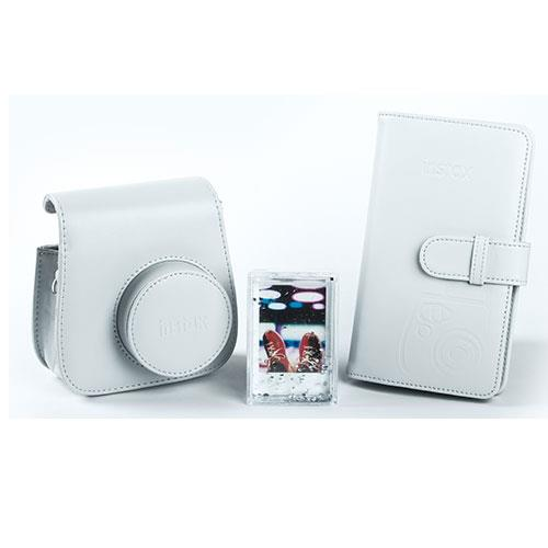 mini 9 Instant Camera accessory kit in Smoky White  Product Image (Primary)