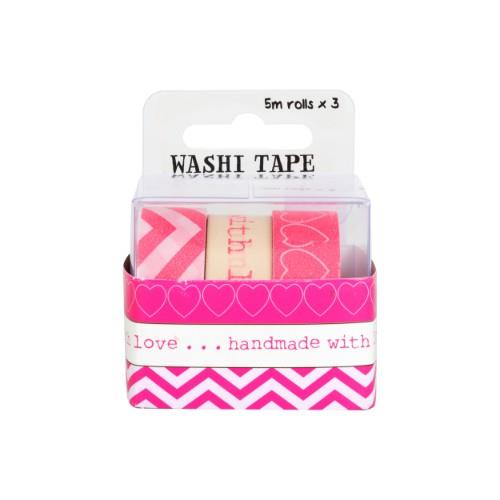 WPS WASHI TAPE PACK - LOVE 3pc Product Image (Secondary Image 1)