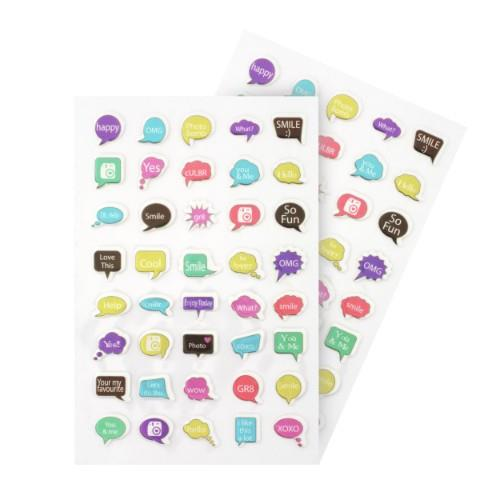 WPS PUFFY STICKER SHEET SPEECH Product Image (Secondary Image 1)