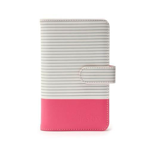 Mini 9 Striped Photo Album in Pink - Ex Display Product Image (Primary)