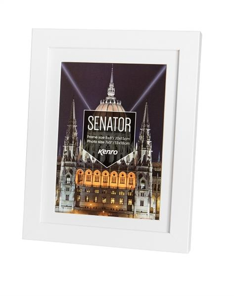 Senator Photo Frame 6x4 (10x15cm) - White Product Image (Primary)