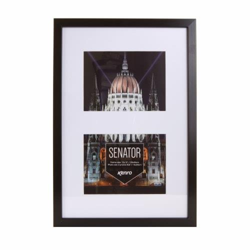 """Sentor Black Frame 12x18"""" with mat for 2 Photos 8x6""""/15x20xm Product Image (Primary)"""