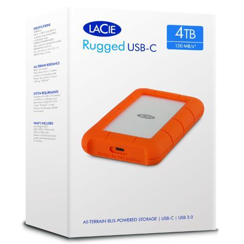 LaCie 4TB Rugged USB-C Product Image (Secondary Image 9)