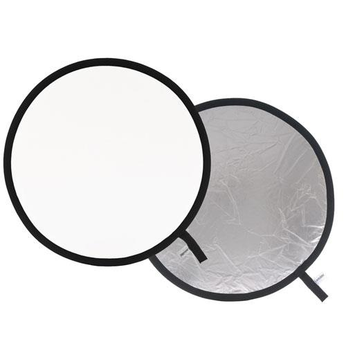 Collapsible Reflector 50cm in Silver/White  Product Image (Primary)