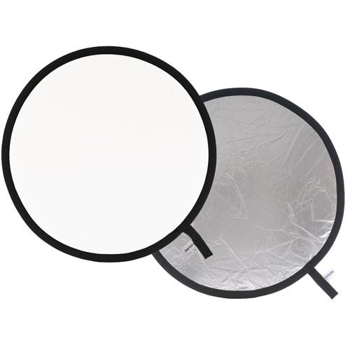 Collapsible Reflector 75cm in Silver/White Product Image (Primary)