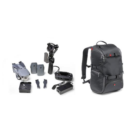Advanced Travel Backpack in Grey Product Image (Secondary Image 1)