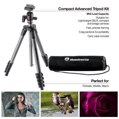 Compact Advanced Aluminium Tripod with Ball Head Product Image (Secondary Image 3)