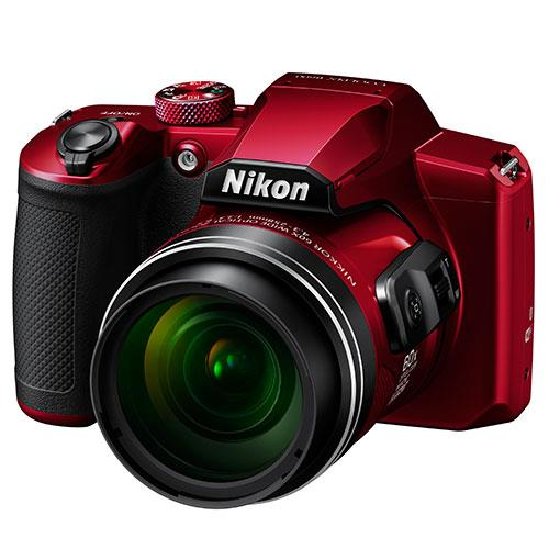 Coolpix B600 Digital Camera in Red Product Image (Secondary Image 1)