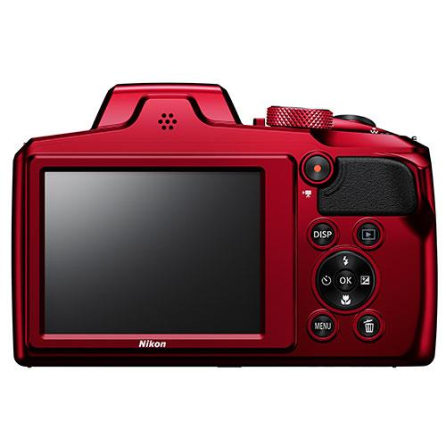 Coolpix B600 Digital Camera in Red Product Image (Secondary Image 2)