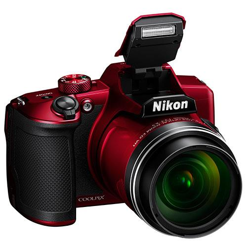 Coolpix B600 Digital Camera in Red Product Image (Secondary Image 3)