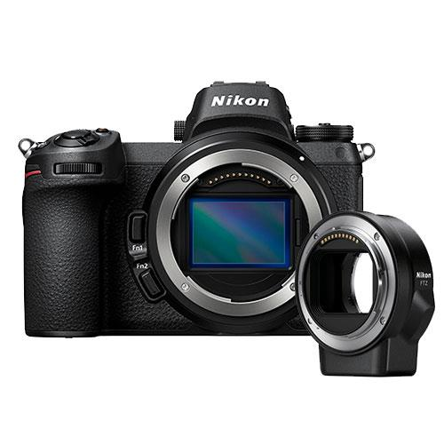 Z 6 Mirrorless Camera Body  with FTZ Mount Adapter Product Image (Primary)