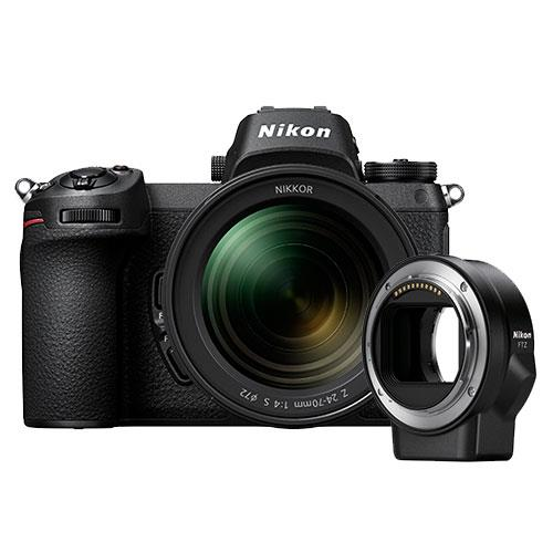 Z 6 Mirrorless Camera with Nikkor 24-70mm f/4 S Lens and FTZ Mount Adapter Product Image (Primary)