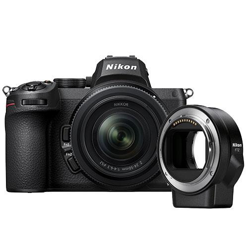 Z 5 Mirrorless Camera with Nikkor Z 24-50mm f/4-6.3 lens and FTZ Mount Adapter Product Image (Primary)