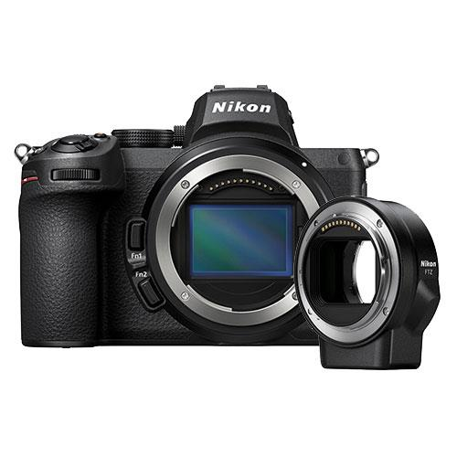Z 5 Mirrorless Camera Body with FTZ Mount Adapter Product Image (Primary)