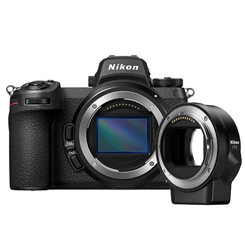 Z 7II Mirrorless Camera Body with FTZ Mount Adapter Product Image (Primary)