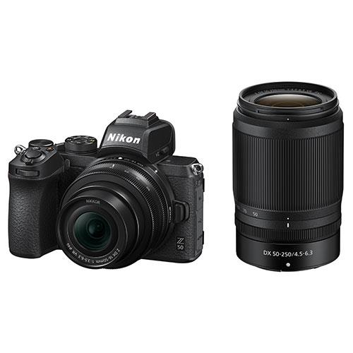 Z 50 Mirrorless Camera with DX 16-50mm and 50-250mm VR Lenses Product Image (Primary)