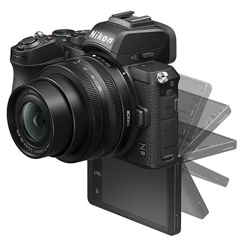 Z 50 Mirrorless Camera with DX 16-50mm and 50-250mm VR Lenses Product Image (Secondary Image 4)