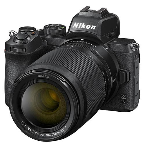 Z 50 Mirrorless Camera with DX 16-50mm and 50-250mm VR Lenses Product Image (Secondary Image 6)