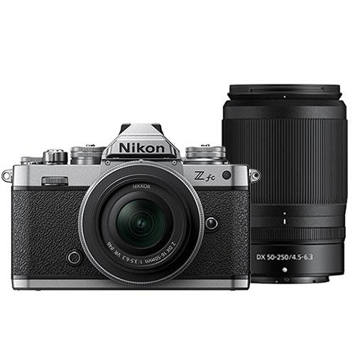 Z fc Mirrorless Camera with Z DX 16-50mm and Z DX 50-250mm Lenses Product Image (Primary)