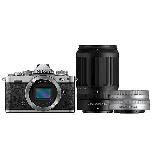 Z fc Mirrorless Camera with Nikkor Z DX 16-50mm and Z DX 50-250mm Lenses Product Image (Secondary Image 1)