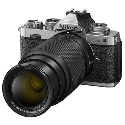 Z fc Mirrorless Camera with Nikkor Z DX 16-50mm and Z DX 50-250mm Lenses Product Image (Secondary Image 8)