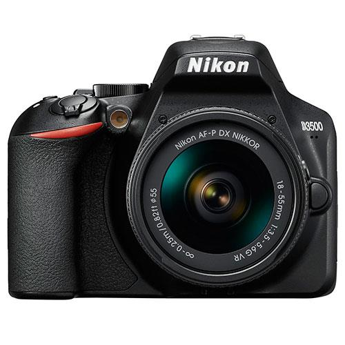 D3500 Digital SLR in Black with 18-55mm f/3.5-5.6 AF-P VR Lens Product Image (Primary)