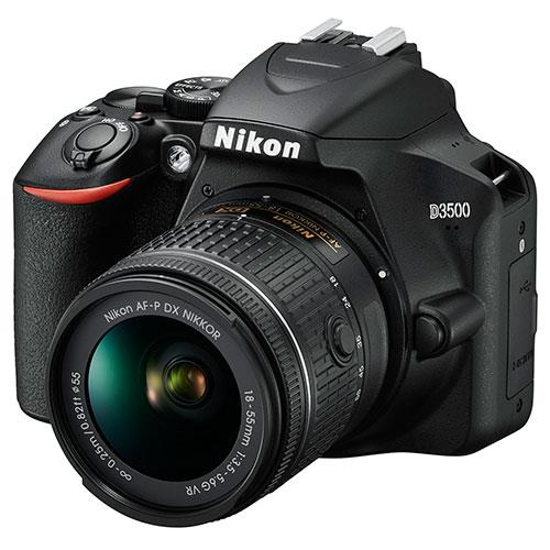 D3500 Digital SLR in Black with 18-55mm f/3.5-5.6 AF-P VR Lens Product Image (Secondary Image 2)