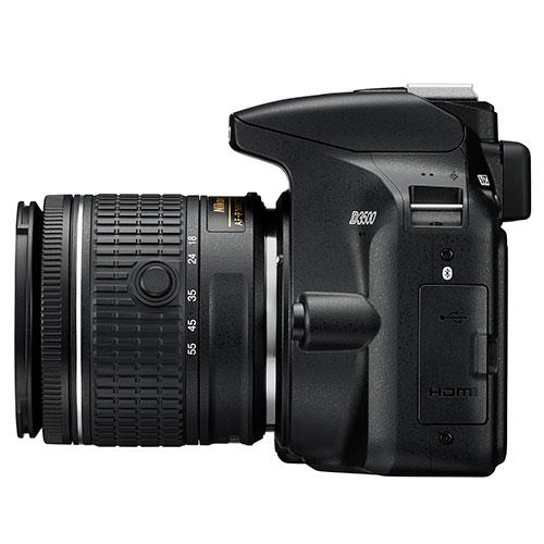 D3500 Digital SLR in Black with 18-55mm f/3.5-5.6 AF-P VR Lens Product Image (Secondary Image 5)