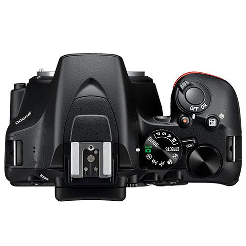 D3500 Digital SLR in Black with 18-55mm f/3.5-5.6 AF-P Non-VR Lens Product Image (Secondary Image 2)