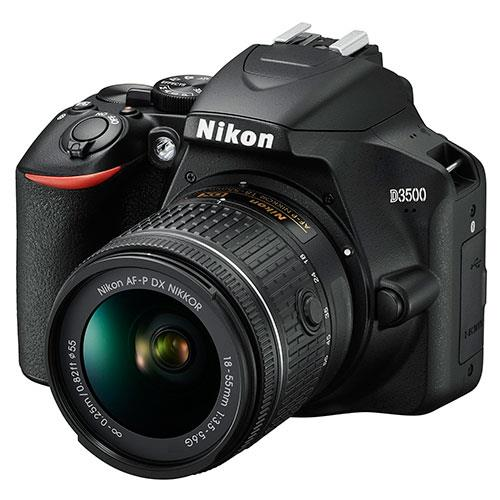 D3500 Digital SLR in Black with 18-55mm f/3.5-5.6 AF-P Non-VR Lens Product Image (Secondary Image 3)