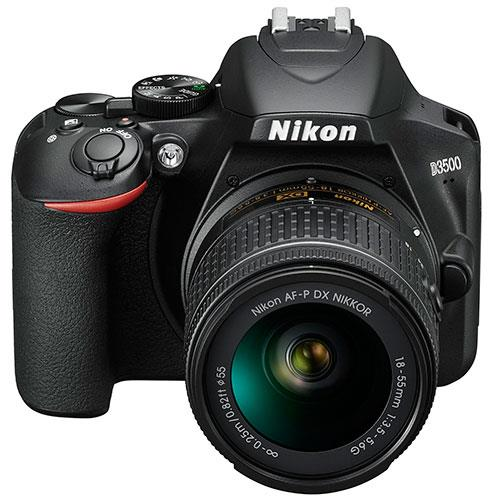 D3500 Digital SLR in Black with 18-55mm f/3.5-5.6 AF-P Non-VR Lens Product Image (Secondary Image 5)