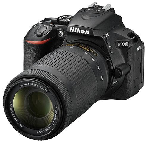 D5600 Digital SLR with 18-55 and 70-300mm AF-P VR Lenses Product Image (Secondary Image 1)
